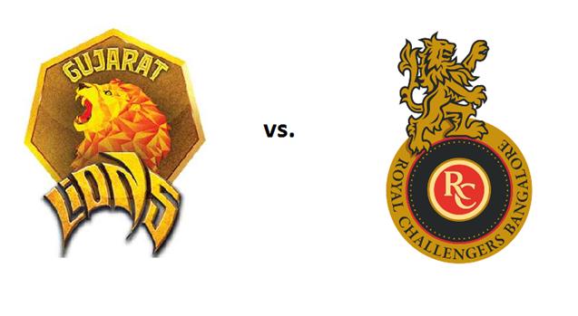 Gujarat Lions vs Royal Challengers Bangalore