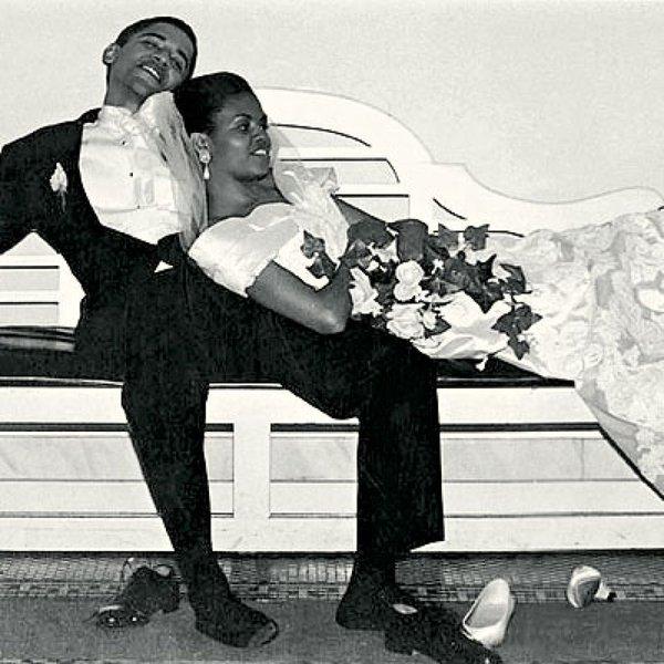 OBAMAS on their wedding day
