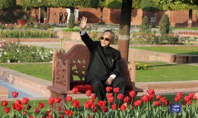 President at Mughal Garden