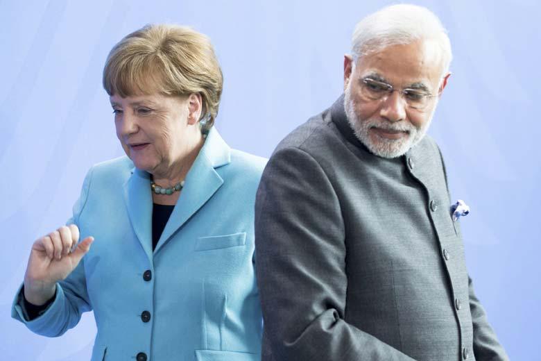 Angela-Merkel-Modi