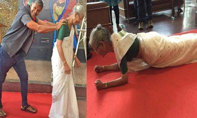 milind-soman-mother-usha-soman-planks