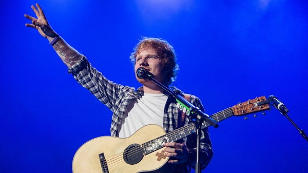 SAN DIEGO, CA - JUNE 23: Singer/songwriter Ed Sheeran performs on stage at Valley View Casino Center on June 23, 2015 in San Diego, California. (Photo by Daniel Knighton/WireImage)
