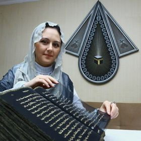 Muslim Artist Spent 3 Years Rewriting Quran With Gold On Silk